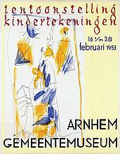 Poster by  Anonymous - Arnhem Gemeentemuseum tentoonstelling kindertekeningen