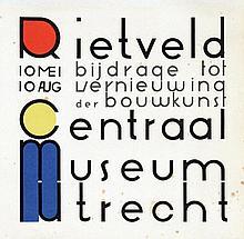 Poster by Gerrit T. Rietveld - Rietveld bijdrage tot vernieuwing der bouw-kunst