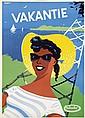 Posters (3) by J. Kuppens - Vakantie Enkabé