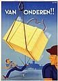 Poster by Jan Lavies - Van Onderen!!
