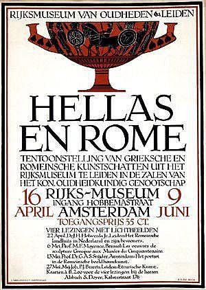 Posters: Roos Sjoerd H. de (1877-1962) Hellas en