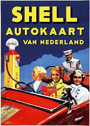 Posters: Burki Charles (1909-1994) Shell Autokaart