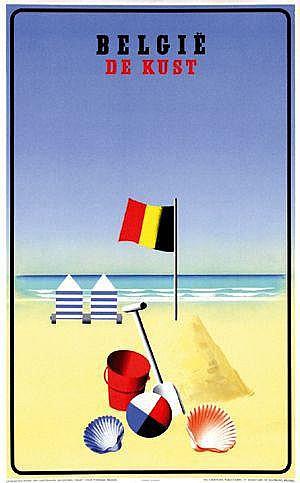 Posters: Marfurt Leo (1894-1977) België De Kust