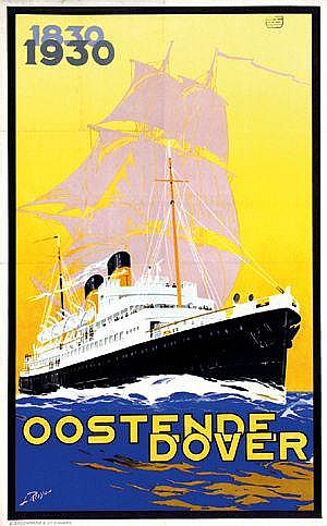 Posters: Royon Louis (1882-1968) Oostende Dover