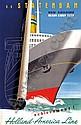 Posters: Dirksen Reyn (1924-1999) Holland-America, Reyn Dirksen, Click for value