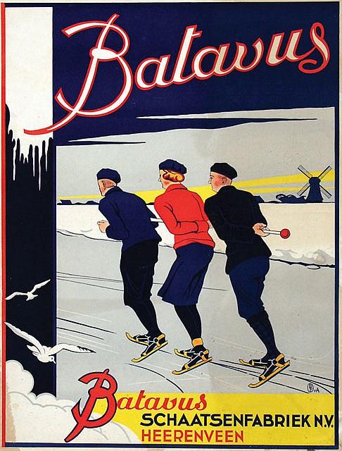 Poster by  Monogram LDFvA - Batavus Schaatsenfabriek Heerenveen