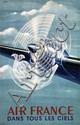 Poster by  Atelier Perceval - Air France Dans Tout Les Ciels