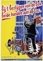 Posters (2) by  Rodrigo - bij 't bestijgen van de bok beide handen aan de loc.