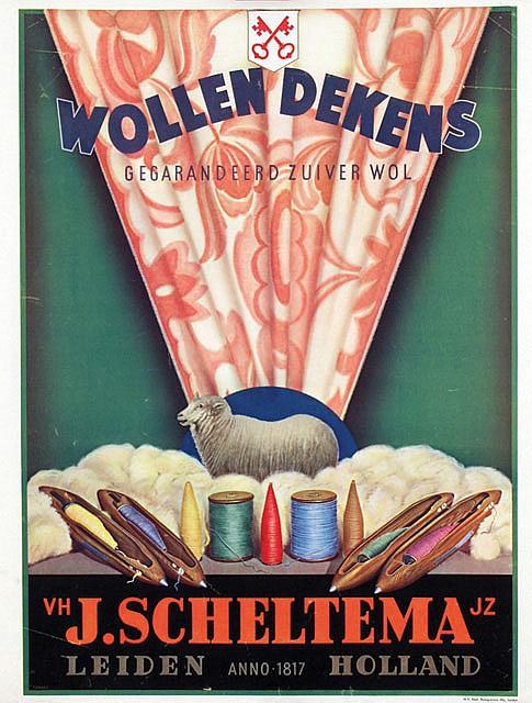Poster by  Tonkes - Wollen Dekens J. Scheltema Leiden