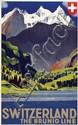 Poster by Otto Baumberger - Switzerland The Brünig Line