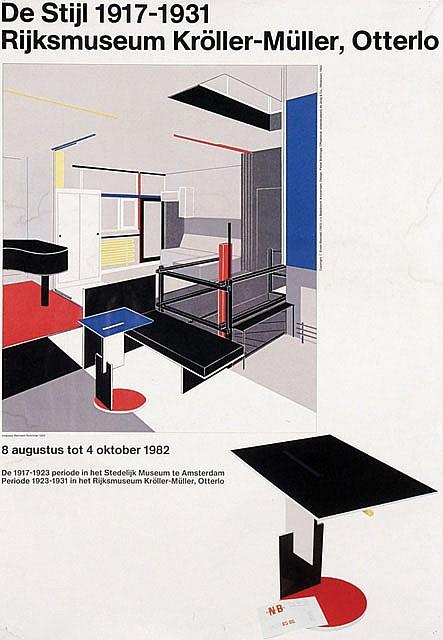 Poster by Pieter Brattinga - De Stijl 1917-1931