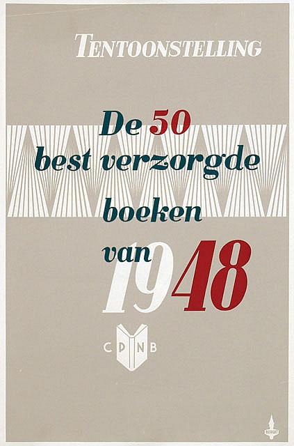 Posters (2) by Advertising Agency Burght - CPNB Tent. De 50 best verzorgde boeken