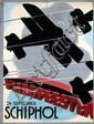 Poster by  Initials K.v.L. (attr. Kees v.d. Laan) - Vliegfeesten Schiphol