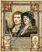 Poster by Huib Luns - Nevens den Italiaan vertegenwoordigt de Hollandsche Schilder op de waardigste wijze...