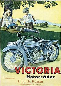 Poster by August Weber-Brauns - Victoria Motorräder