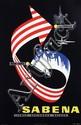 Poster by  Dohet (Commerciale Publicité) - Sabena Bruxelles New York