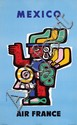 Poster by Jean Colin - Air France Mexico