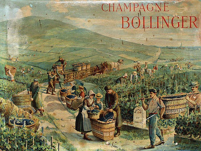 Poster by  Initials H.J. - Champagne Bollinger