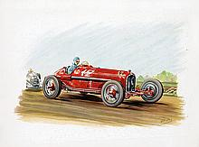 Poster by  Rob-Roy - Without text (Ferrari racing car)
