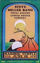Poster by Jim Blashfield - Steve Miller Band Total Eclipse Masonic Temple Portland