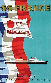 Posters (3) by Jean Jacquelin - French Line SS France
