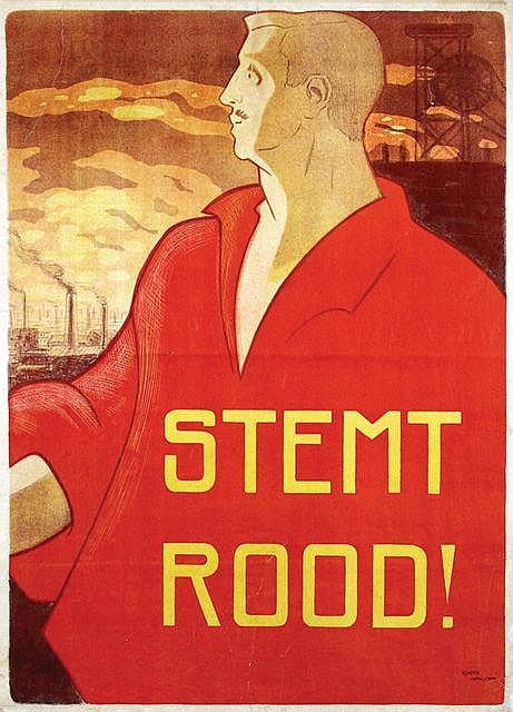 Poster by Albert Hahn Sr. - Stemt Rood!