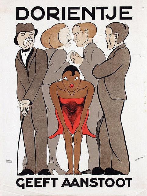 Poster by Jan Kotting - Dorientje geeft aanstoot