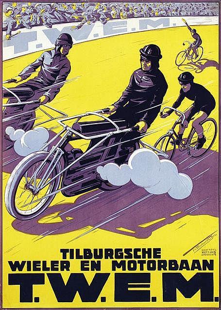 Poster by Charles Verschuuren jr. - Tilburgsche Wieler en Motorbaan