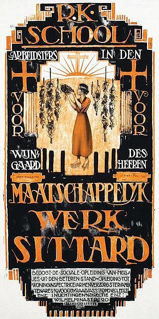 Poster by Joan Collette - Maatschappelijk Werk Sittard