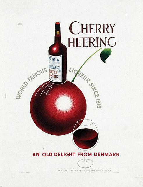 Poster by Helge Refn - Cherry Heering