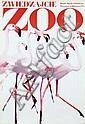 Poster by Waldemar Swierzy - Zwiedzajcie Zoo, flamingo's, Waldemar Swierzy, Click for value