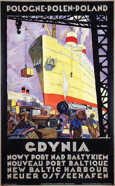 Poster by Stefan J. Norblin - Poland Gdynia New Baltic Harbour
