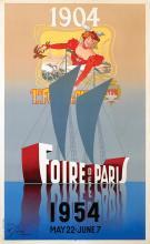 Poster by Léon Victor Solon - Foire de Paris 1954