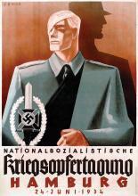 Poster by Sepp Semar - Nationalsozialistische Kriegsopfertagung Hamburg