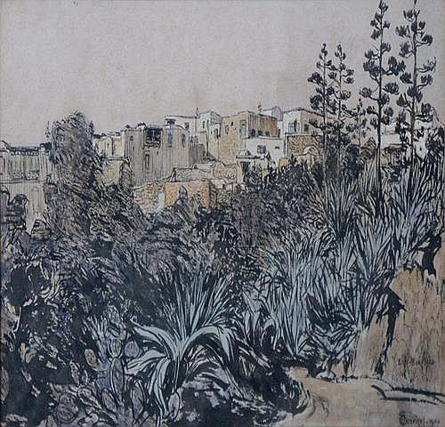 JANSEN, H. (Hendricus) (1867-1921) Gezicht op een