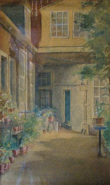 JOSSEAUD, J. (Johannes) (1880-1935) Hofje in de