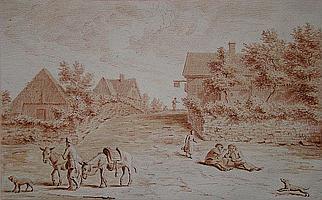 NOORDE, C. (Cornelis) VAN (1731-1795) 'Gezigt te