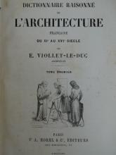 ARCHITECTURE - VIOLLET-LE-DUC, E.