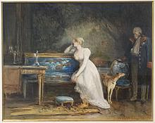DRAWING - HOEVENAAR Wz., J. (Jozef) (1840-1926).