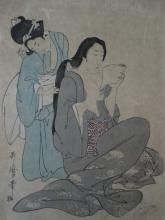JAPANESE PRINTS - COLLECTION of 3 woodcuts in colours