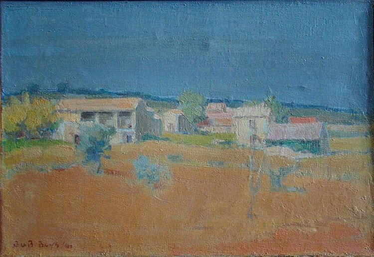 BUYS, B. (Bob) (1912-1970) 'Landschap Le Gard'.