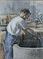 BOBELDIJK, F. (Felicien) (1876-1964) Arbeider aan, Felicien Bobeldijk, Click for value