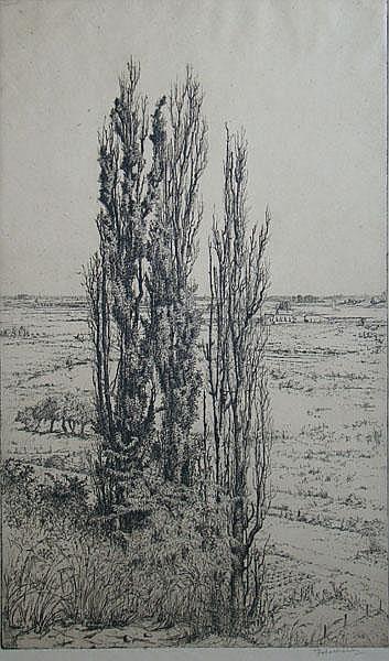 NACHENIUS, J.C. (Jan)(1890-1987). (De Rijn vanaf