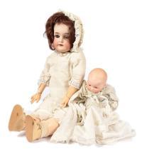 PAIR inc Armand Marseille bisque dolls: (1) My