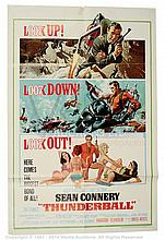 THUNDERBALL (1965) Movie Poster. US One Sheet