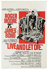 LIVE AND LET DIE (1973) Film Poster. UK Double Crown