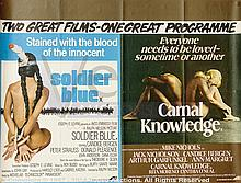 SOLDIER BLUE / CARNAL KNOWLEDGE Film Poster