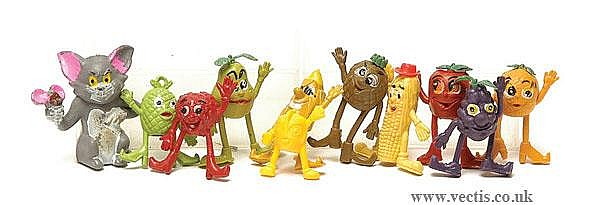 Rare 1970s Munch Bunch Fruit Pencil Toppers