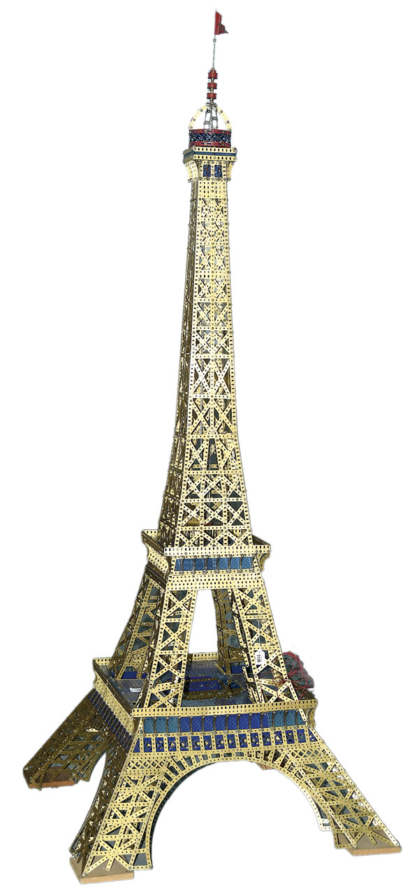 Meccano Model Of The Eiffel Tower Built Using