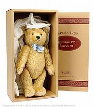 Steiff Teddy Bear 1951 Blond replica, white tag